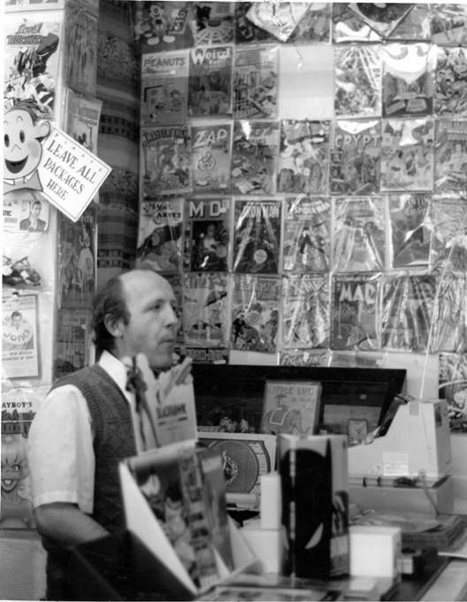 Robert Beerbohm circa 1989 in his 2nd Haight Ashbury location