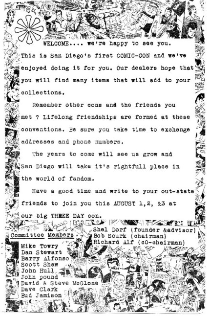 March 1970 Minicon Booklet Welcome Page (from the Richard Alf archives)