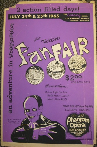 Detroit Triple Fan Fair 1965 Poster Designed by Shel Dorf