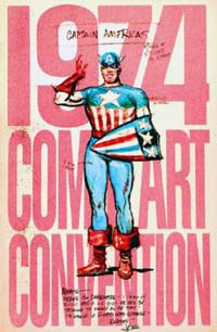 New York Comic-Art Convention 1974 Program-Book Cover: Convention Produced by Phil Seuling